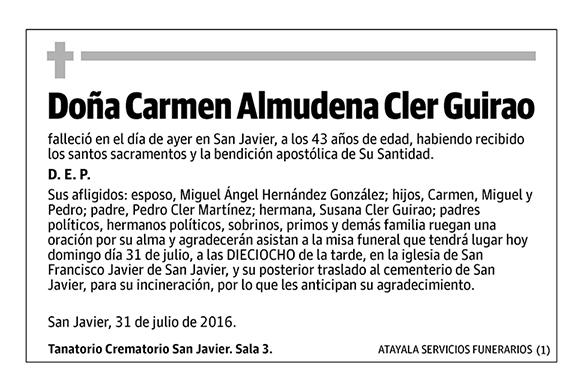 Carmen Almudena Cler Guirao