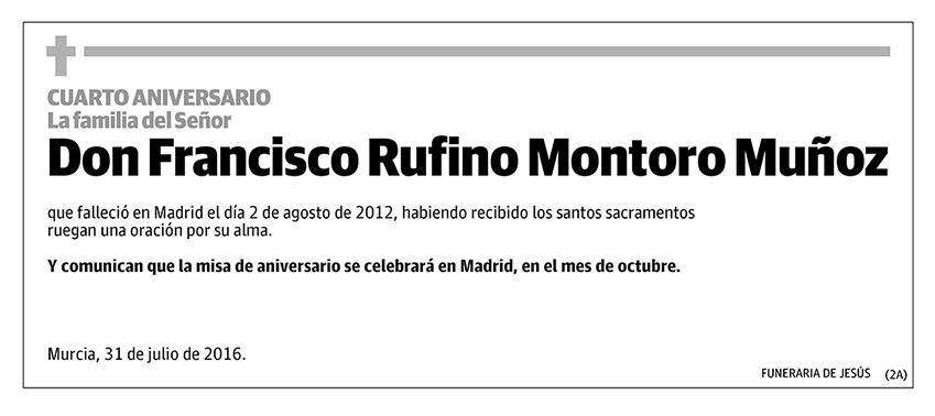 Francisco Rufino Montoro Muñoz