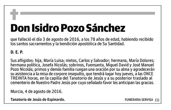 Isidro Pozo Sánchez