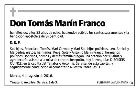 Tomás Marín Franco