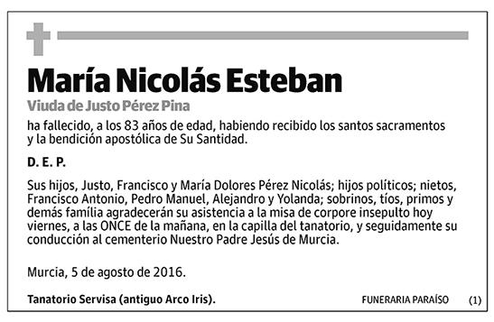 María Nicolás Esteban