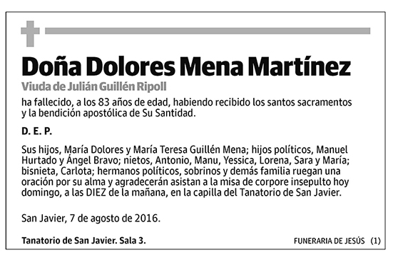 Dolores Mena Martínez