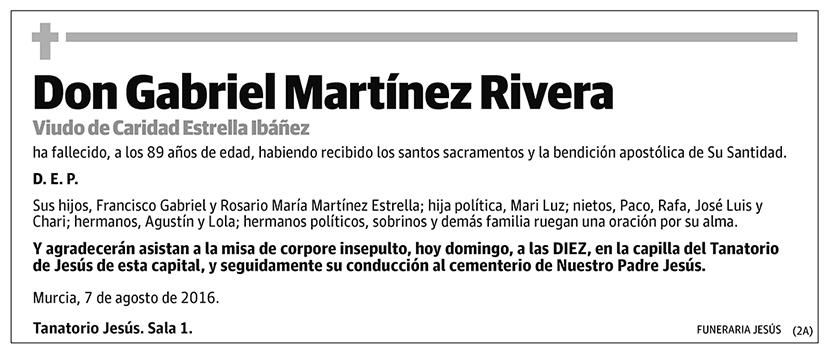 Gabriel Martínez Rivera
