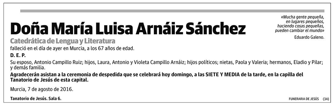 María Luisa Arnáiz Sánchez