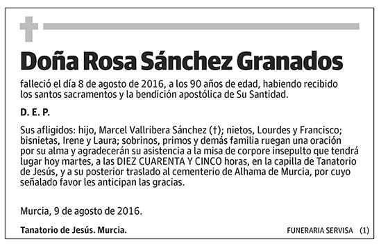Rosa Sánchez Granados