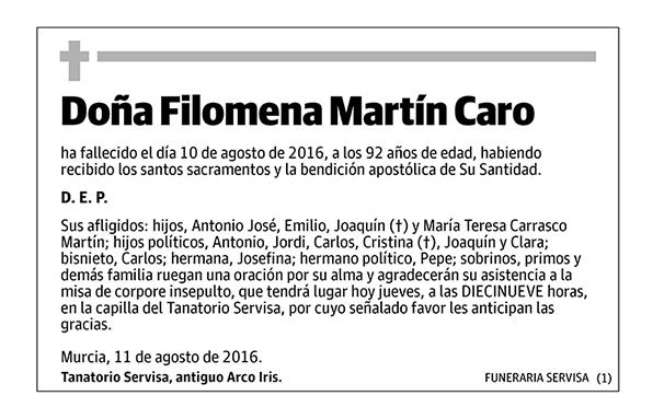 Filomena Martín Caro