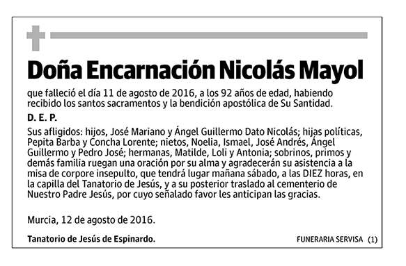 Encarnación Nicolás Mayol