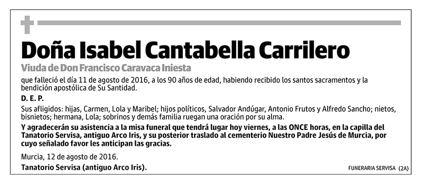 Isabel Cantabella Carrilero