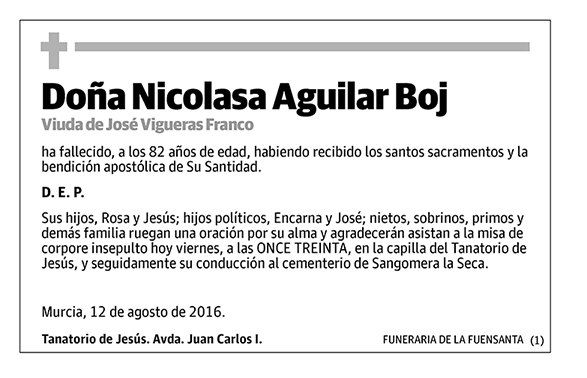 Nicolasa Aguilar Boj