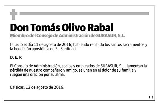 Tomás Olivo Rabal