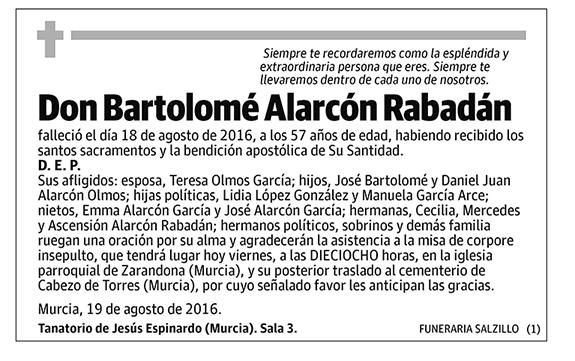 Bartolomé Alarcón Rabadán