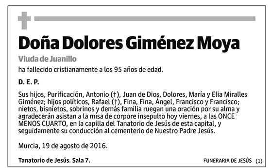 Dolores Giménez Moya