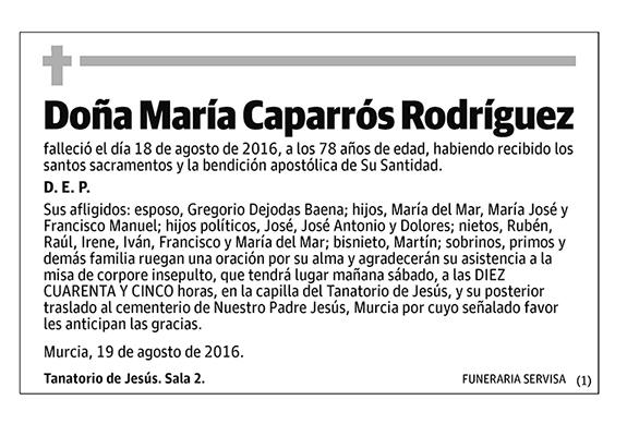 María Caparrós Rodríguez