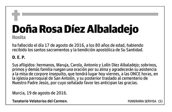 Rosa Díez Albadalejo