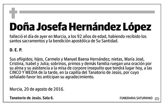 Josefa Hernández López