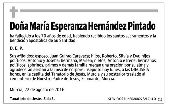 María Esperanza Hernández Pintado