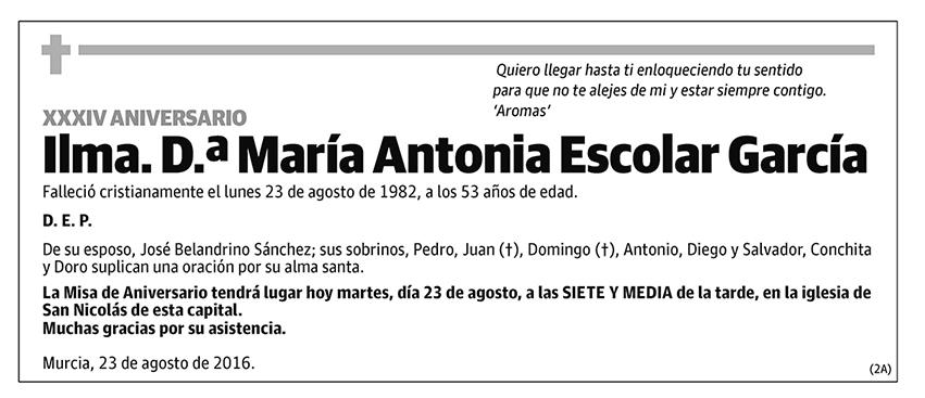 María Antonia Escolar García