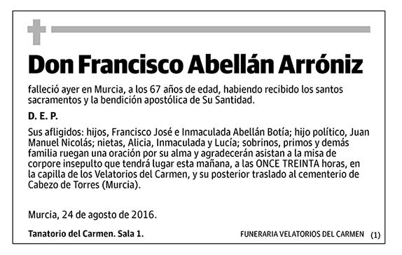 Francisco Abellán Arróniz