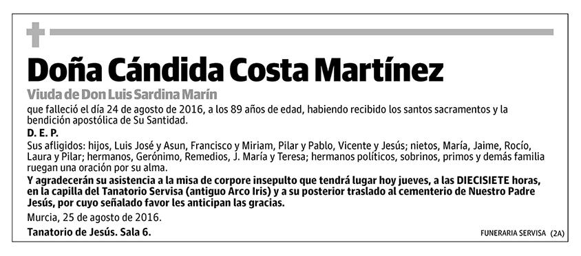 Cándida Costa Martínez