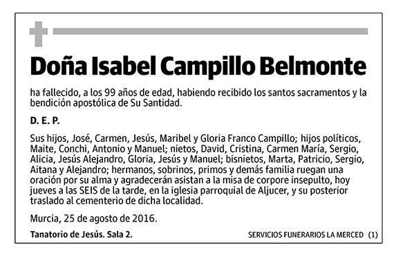 Isabel Campillo Belmonte