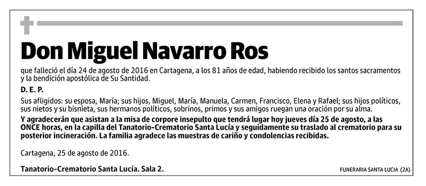 Miguel Navarro Ros