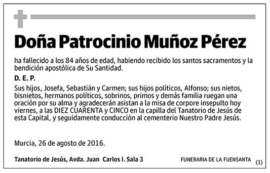 Patrocinio Muñoz Pérez