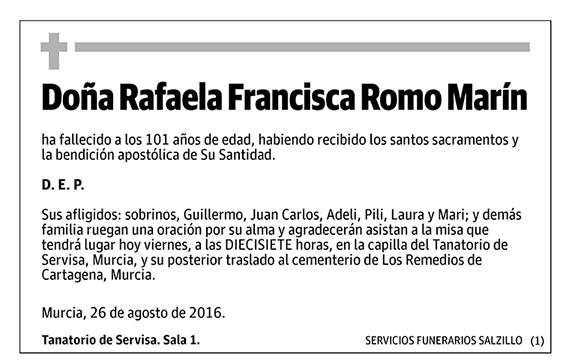 Rafaela Francisca Romo Marín