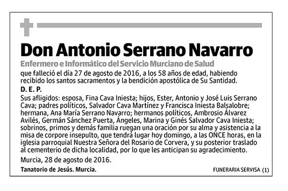 Antonio Serrano Navarro