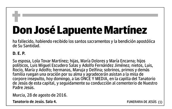 José Lapuente Martínez