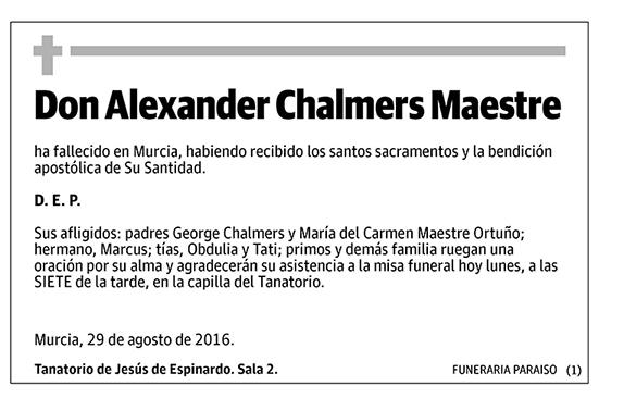 Alexander Chalmers Maestre