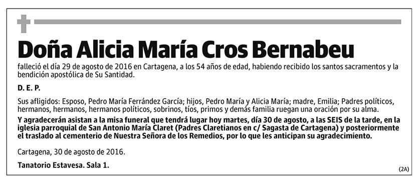 Alicia María Cros Bernabeu