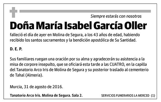 María Isabel García Oller
