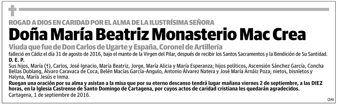 María Beatriz Monasterio Mac Crea