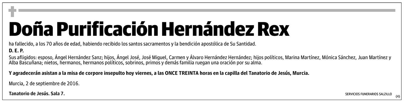 Purificación Hernández Rex