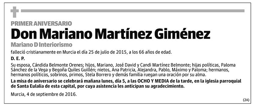 Mariano Martínez Giménez