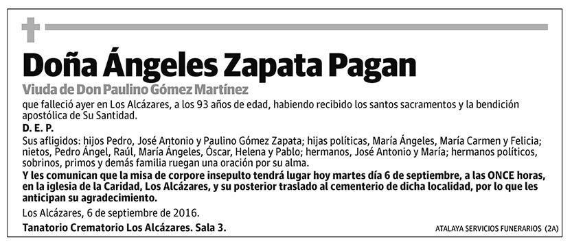 Ángeles Zapata Pagan