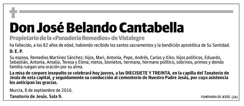 José Belando Cantabella