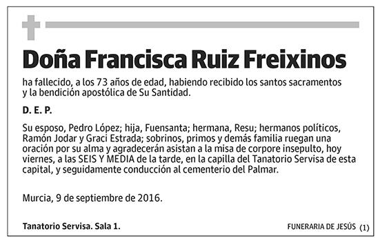 Francisca Ruiz Freixinos