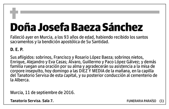 Josefa Baeza Sánchez