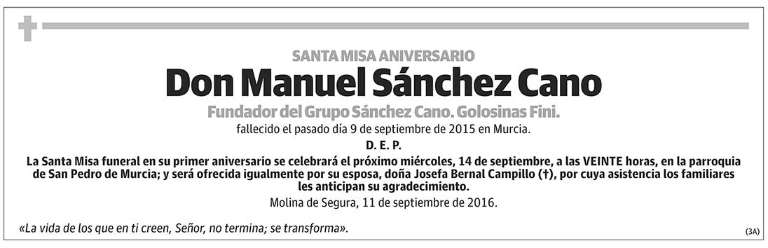 Manuel Sánchez Cano