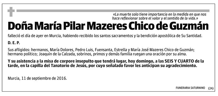 María Pilar Mazeres Chico de Guzmán