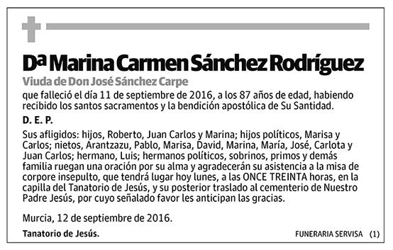 Marina Carmen Sánchez Rodríguez