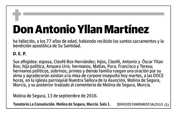 Antonio Yllan Martínez