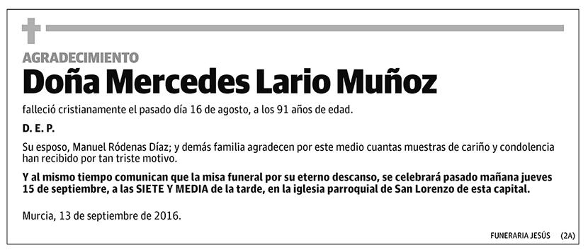 Mercedes Lario Muñoz