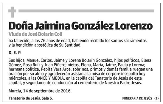Jaimina González Lorenzo