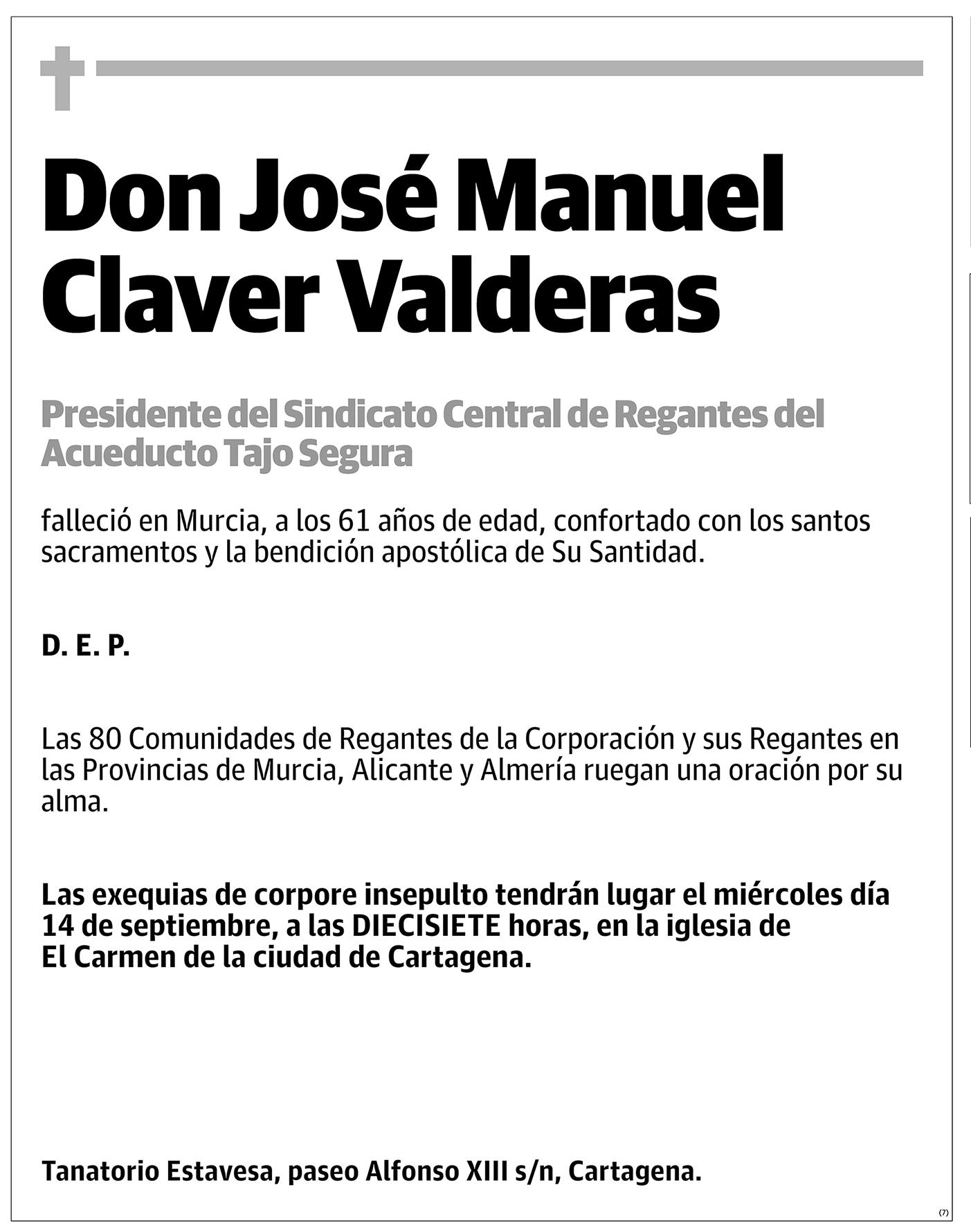 José Manuel Claver Valderas