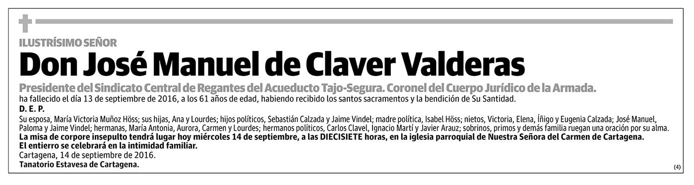 José Manuel de Claver Valderas