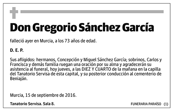 Gregorio Sánchez García