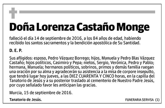 Lorenza Castaño Monge