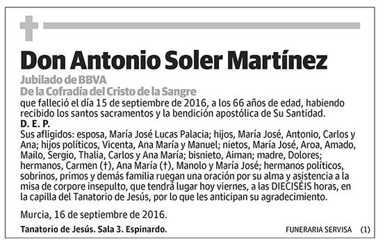 Antonio Soler Martínez